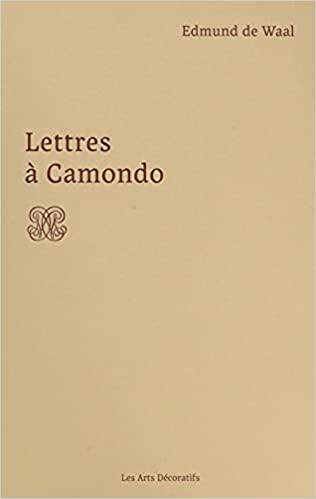 Book Cover: Lettres à Camondo